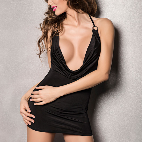 Passion Miracle Chemise Black - PAE10075B